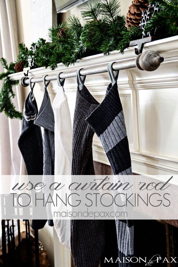 Fireplace Mantel stocking holders for fireplace mantel : Best 25+ Stocking hanger ideas on Pinterest | Mantle stocking ...