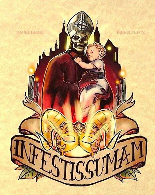 Title: Infestissumam  Artist: Randi Laing  The Nameless Ghouls Official Ghost Cult.