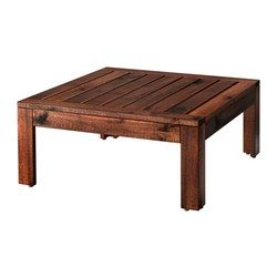 For the patio!  ÄPPLARÖ Table/stool section, outdoor, brown stained brown - IKEA
