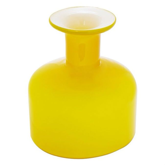 Ben De Lisi Home Hand Blown Yellow Glass Vase (15 x 12.8cm). Decorate your home with this modern, vibrant yellow vase from Ben De Lisi.