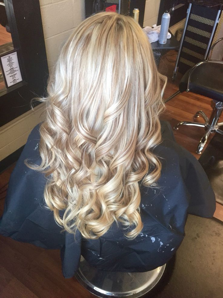 All over blonde with Carmel blonde lowlights