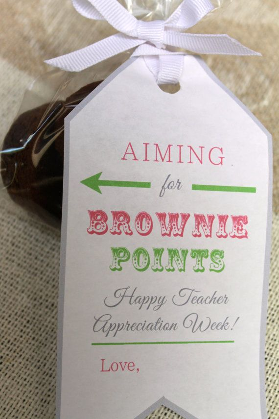 Teacher Appreciation Week Brownie Gift Tags by PaperAndTaigh