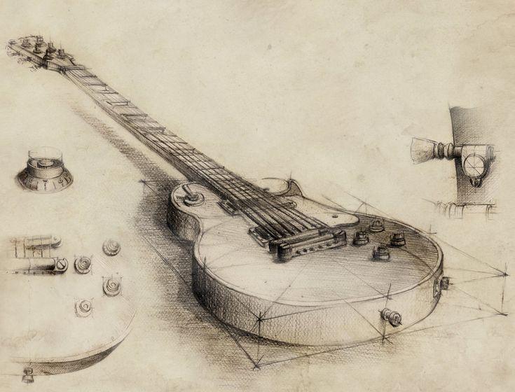 Guitar - vintage style by GrimDreamArt on DeviantArt