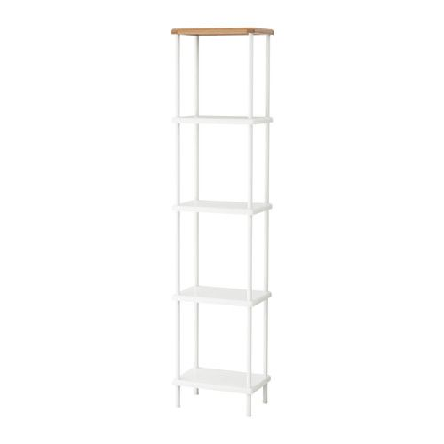 IKEA - DYNAN, Shelf unit, , Bamboo is a durable, natural material.Adjustable feet make it possible to compensate for any irregularities in the floor.Perfect in a small bathroom.