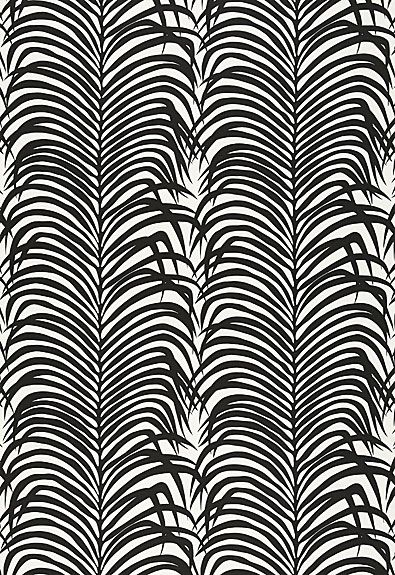F Schumacher, Zebra PAlm Linen Print. I LOVE this but it's $114.80 a yard. Yikes.