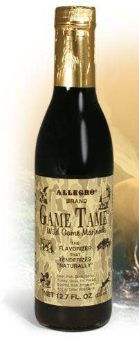 Allegro Marinade - GAME TAME Marinade