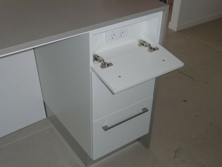 power point drawer on kitchen island