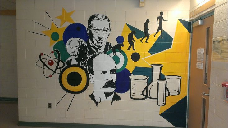 STM Science mural Acrylic