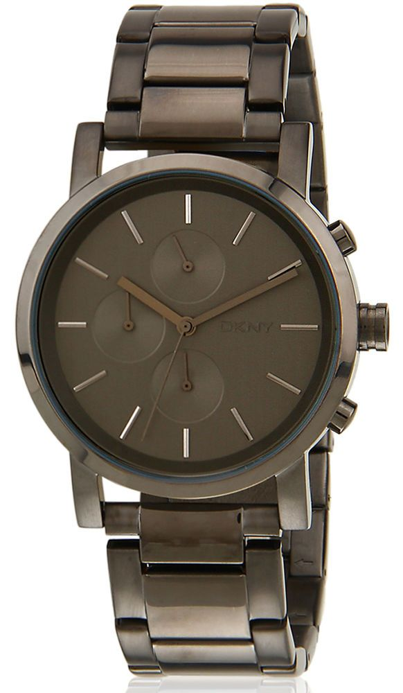 DKNY NY2162 Soho Dark Grey Dial Gunmetal Stainless Chronograph Men's Watch #DKNY #Dress