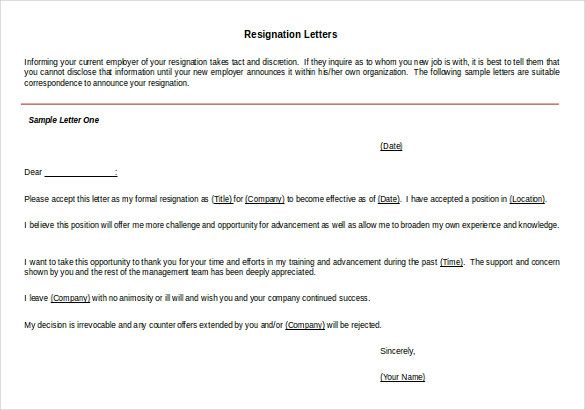 17 Best Ideas About Resignation Template On Pinterest