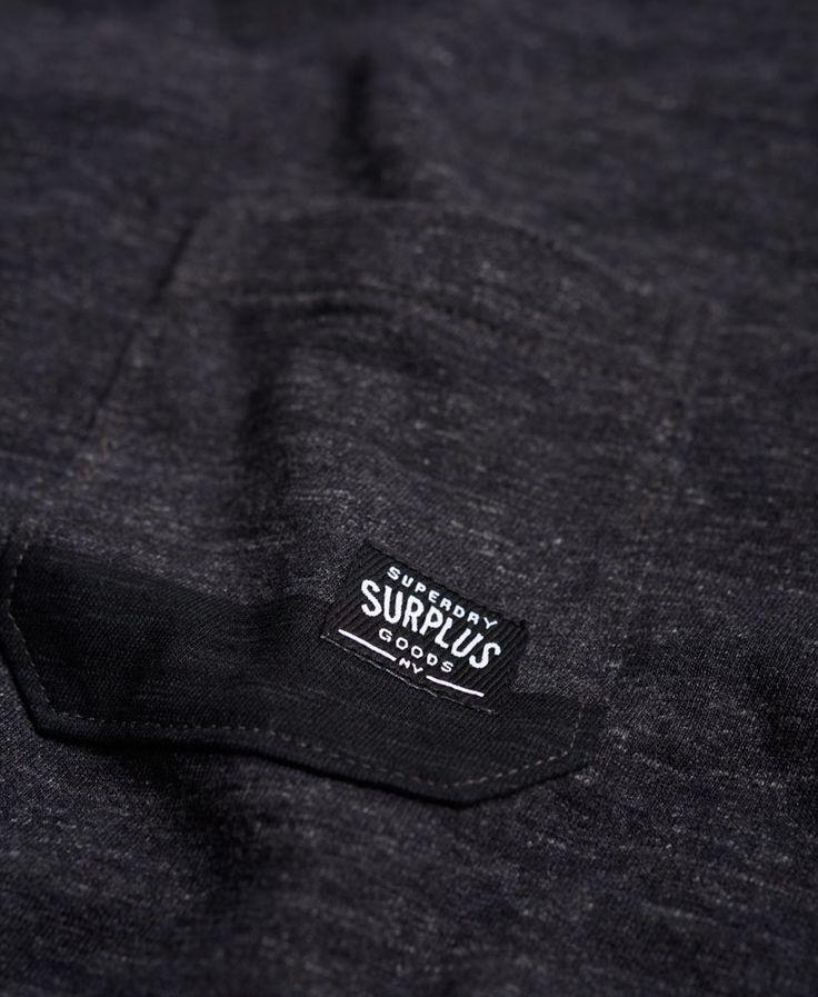 Мужские - Излишки товаров карманные футболки в Сетка Grey Grit | Очень сухой