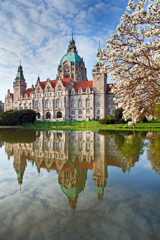 Hannover City Hall | Lower Saxony, Germany -       I was born within walking distance from the Rathaus, in Wiesenstrasse 18 (Suedstadt). Fond memories - after WW II.