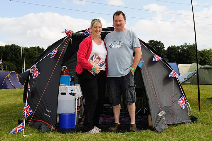 "Credit: Frantzesco Kangari Sally Bucknole, 48, Hampshire  (with husband Clive) ""I have just arrived but tomorrow I..."