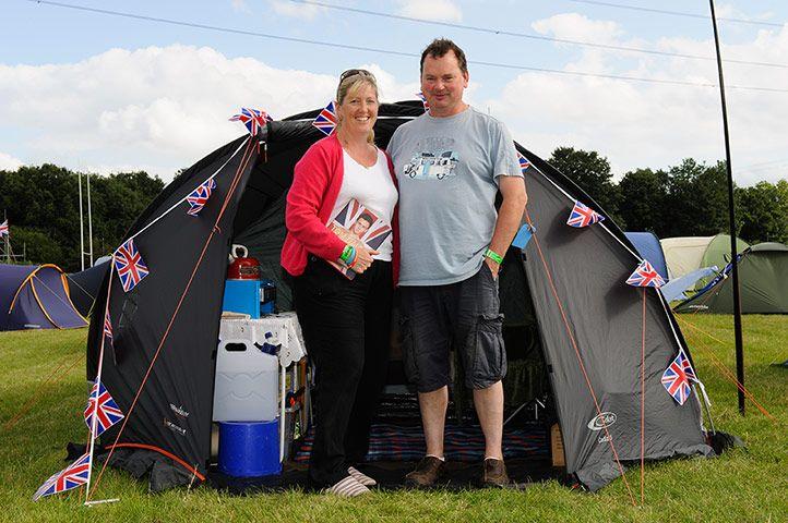 "Credit: Frantzesco Kangari Sally Bucknole, 48, Hampshire  (with husband Clive) ""I have just arrived but tomorrow I..."