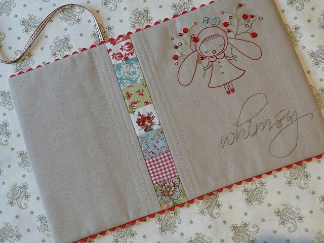 tutorial for journal cover. link on Bloom and Blossom blog to pattern for little girl embroidery, too.  sweet, sweet, sweet!