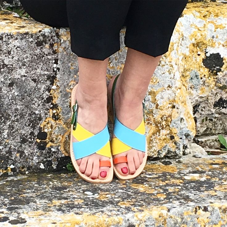 """LOYKIA"""" multicolored leather sandals🐬 Available at www.sibylladelphica.com"""