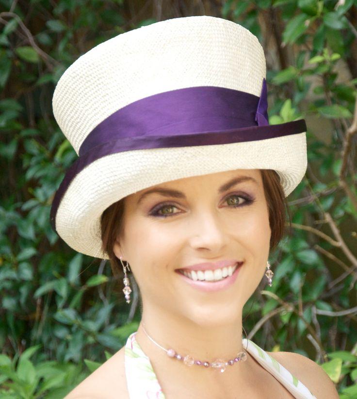 Wedding Hat,  Church hat, Kentucky Derby Hat, Cream Ivory Top Hat, Ascot Hat, Carriage Hat, Victorian Riding Hat, Formal Hat,  Edwardian Hat