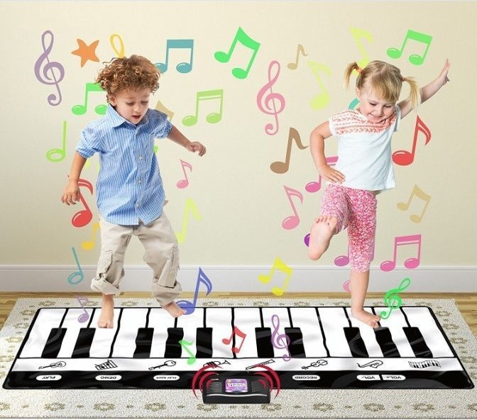 Giant Piano Mat 24 Keys Record Playback Kids Floor Musical Step
