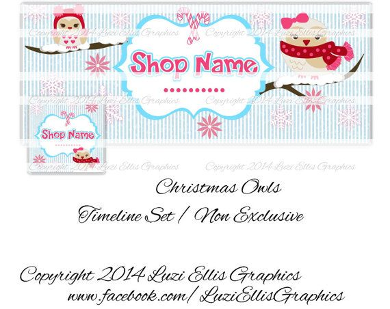 Christmas Owls Facebook Timeline  Banner & by LuziEllisGraphics