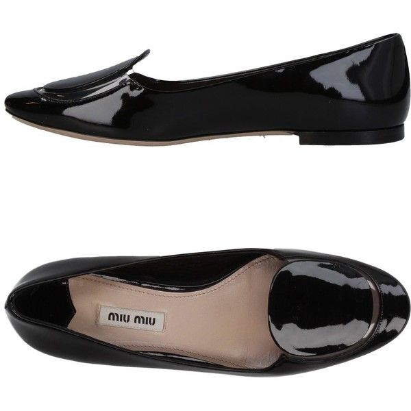 Miu Miu Loafer (1.030 BRL) ❤ liked on Polyvore featuring shoes, loafers, black, leather flat shoes, leather sole shoes, loafers moccasins, flat shoes and black shoes