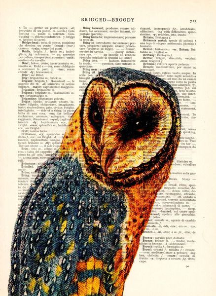 Wall Prints – Owl vintage home wall decor art prints – a unique product by Dictionary-vintage-book-page on DaWanda