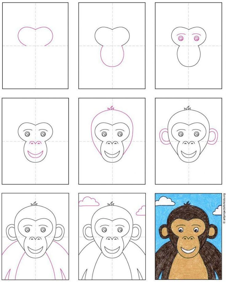 How to Draw a Monkey Face in 2020 | Monkey drawing easy ...