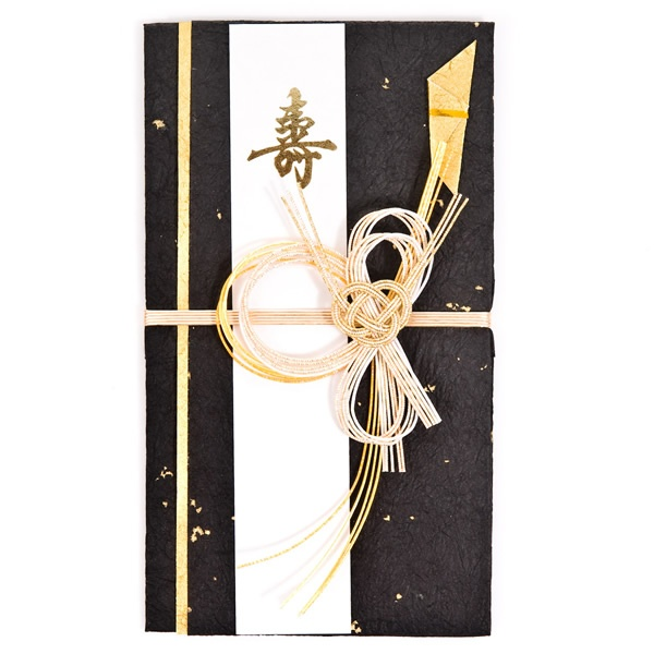 shugi bukuro, money gift envelope, with mizuhiki knot ornament...