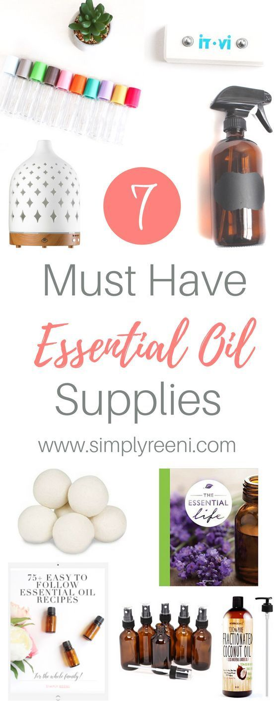 Are you new to essential oils or looking for more ways to use them? Have you ever wondered what other supplies are needed to safely and effectively use these amazing natural solutions? Here are the 7 must have essential oil supplies! Click to read more or pin for later! // www.simplyreeni.com