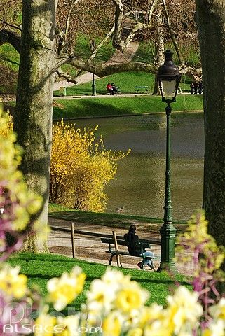 Parc des buttes Chaumont in Paris