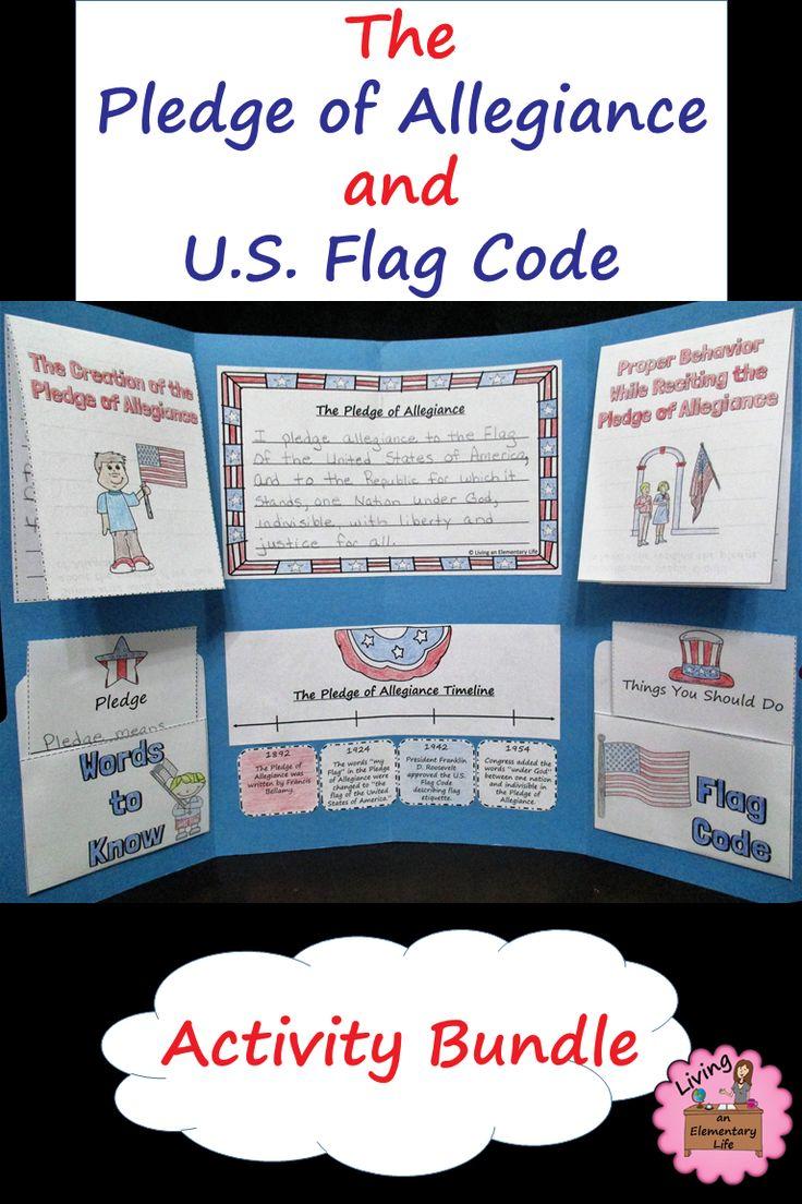 Pledge of Allegiance and Flag Code for upper elementary.
