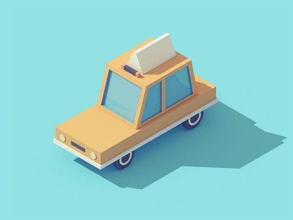 Vehicles Animations by Guillaume Kurkdjian, via Behance