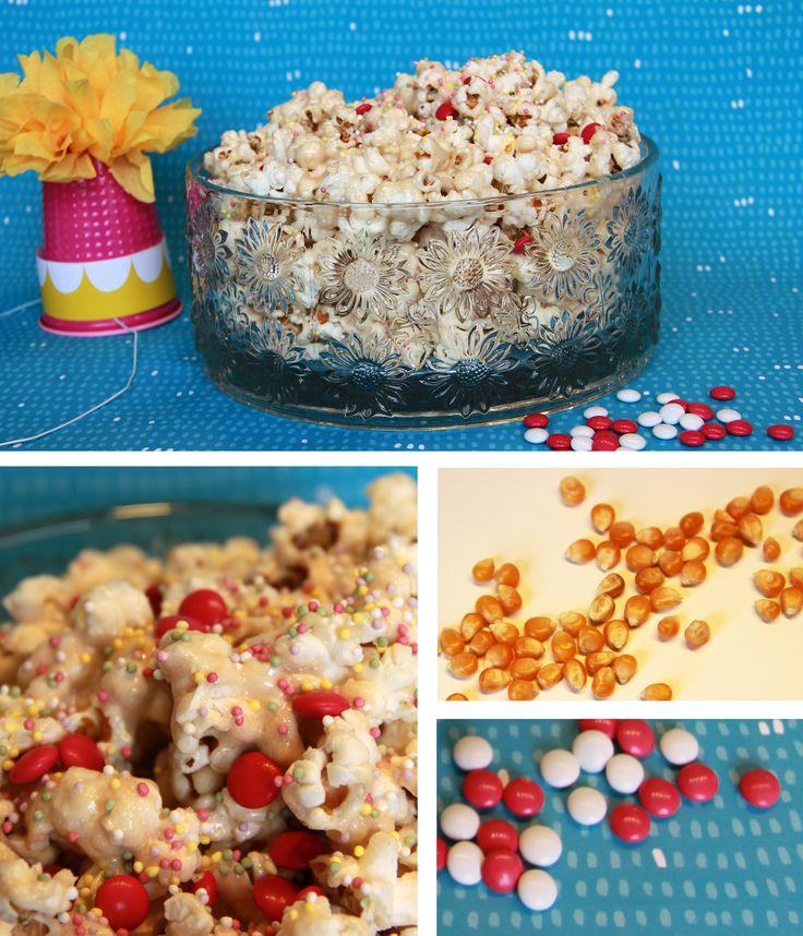 Popcorn-herkku | lasten | lapset | idea | askartelu | kädentaidot | käsityöt | popcorn | herkku | puuhaa | kesä | juhlat | karnevaalit | summer | party| carnivals | DIY | ideas | kids | children | crafts | home | sweets | Pikku Kakkonen