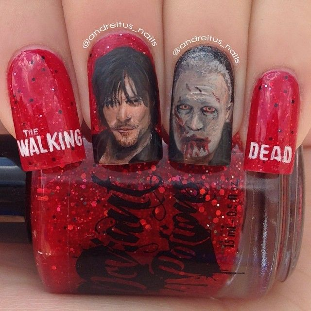 walking dead by andreitus_nails  #nail #nails #nailart