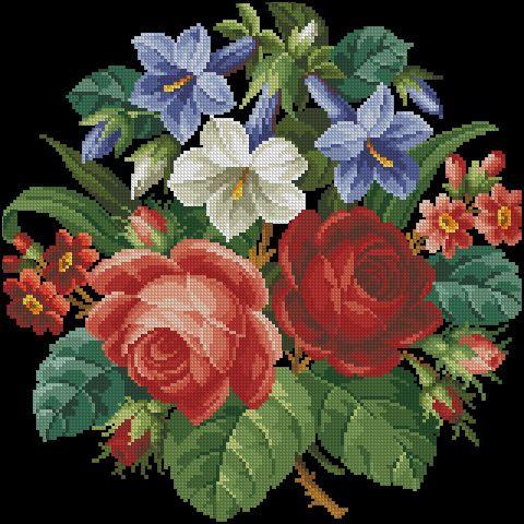 Gallery.ru / Фото #2 - Колокольчики,розы и космеи - Kalla