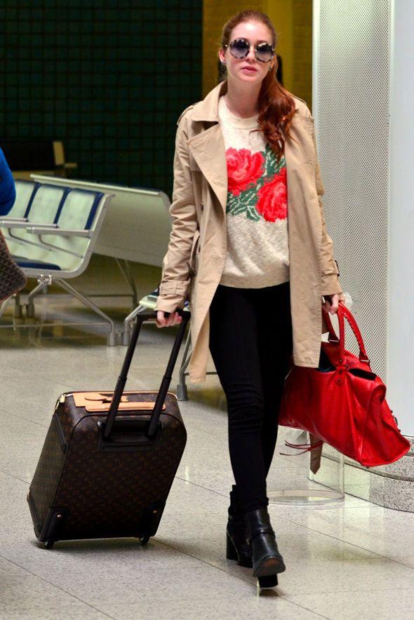 Marina Ruy Barbosa, famosa no aeroporto no inverno, look de aeroporto no inverno, look para viajar no inverno, look para aeroporto no invern...