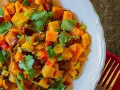 Roasted Butternut Squash with Chiles, Lime and Cilantro | Classic Mexican flavors add a welcome punch to this easy oven-roasted butternut squash recipe; it's the perfect side dish for a taco party.