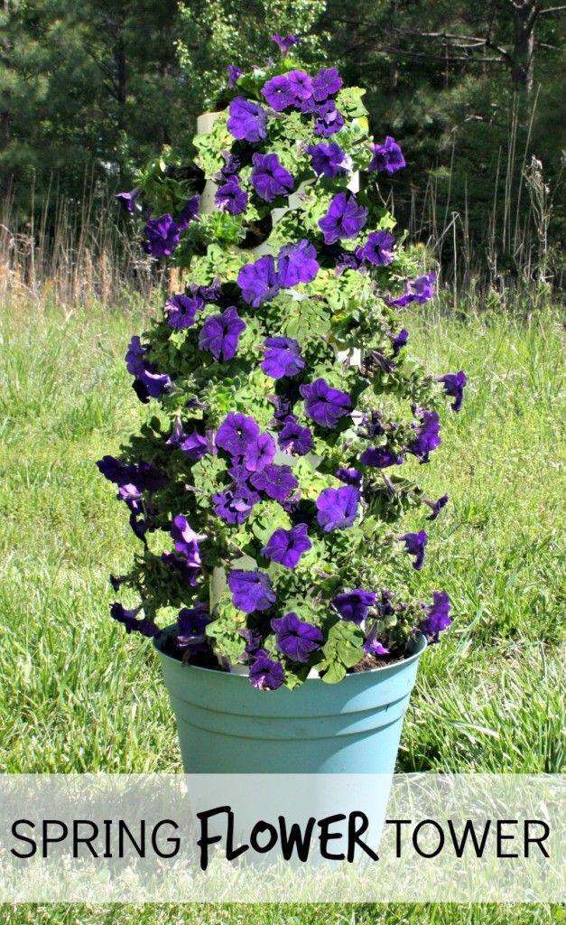 DIY Spring Flower Tower From Dreamsicle Sisters