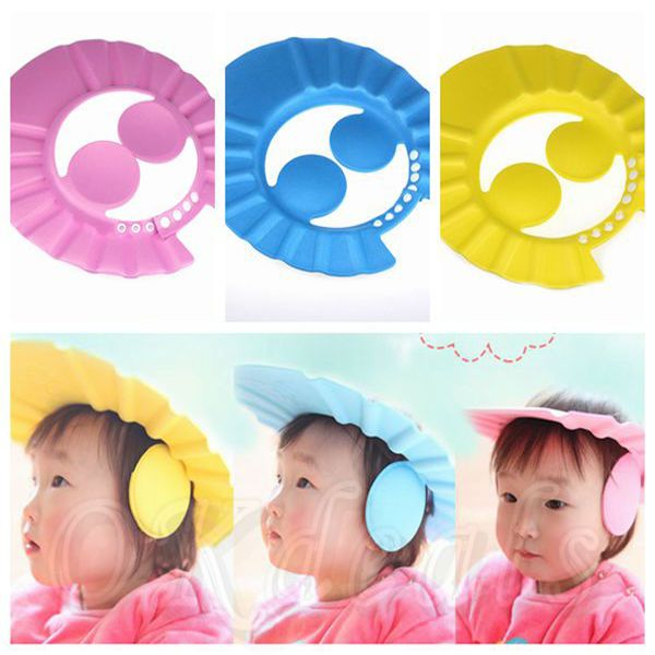 Adjustable Baby Kid Shampoo Shower Bathing Bath Protect Ear Wash Hair Cap Hat AA #UnbrandedGeneric