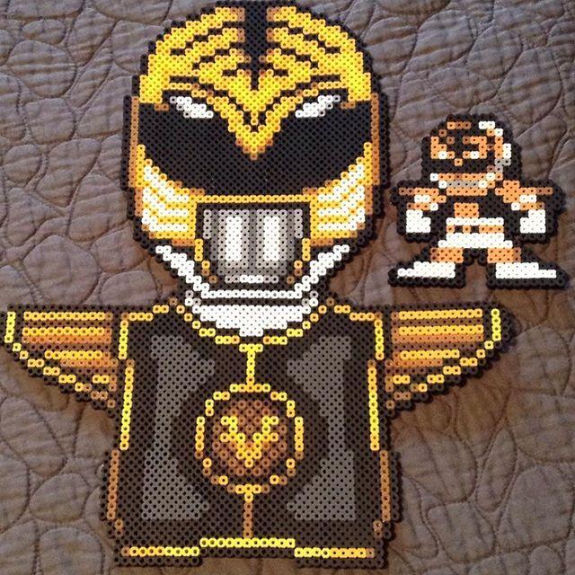 White Ranger - Power Rangers perler beads by perler_purrs