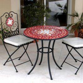 beautiful outdoor iron frontdoor chairs | ... patio furniture - furniture shops selling mosaic patio furniture