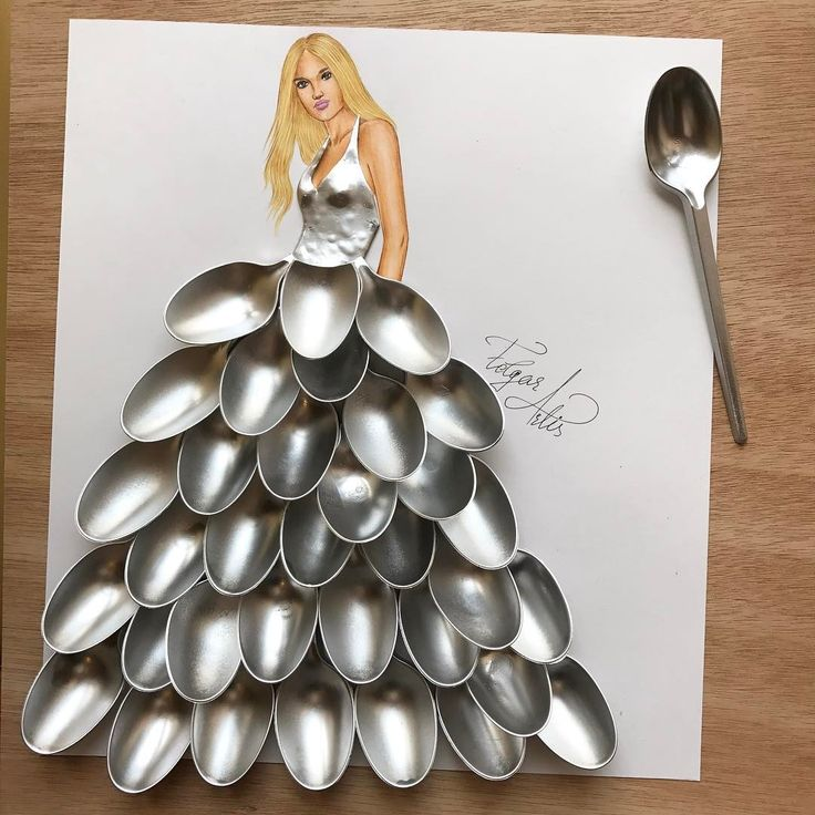 Spoon couture  Made out of spoons.  We are 500K  Thank you so much for your kindness.❤️ All this would be nothing without you guys. Thank you for being such amazing people.❤