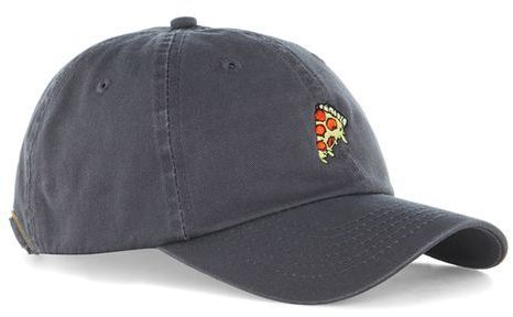Topman Washed Gray 'Pizza' Dad Cap