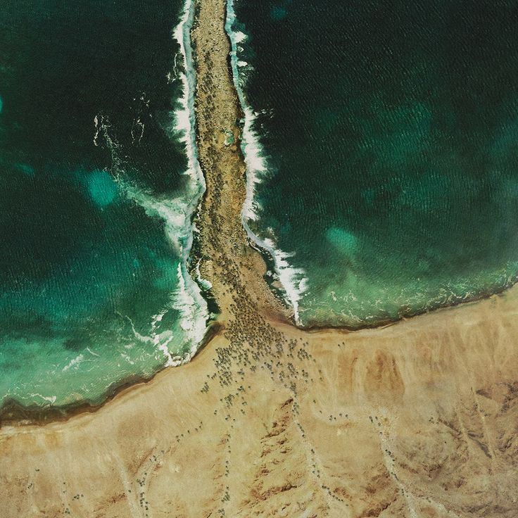 Four moments from the Bible as visualised from satellite photography, 'God's Eye View' by artist James Dive.