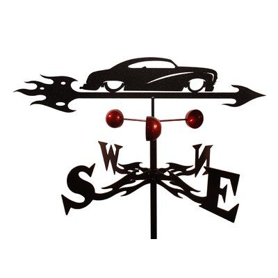 SWENProducts Handmade Chop Mercury Auto Car Weathervane with Roof Mount