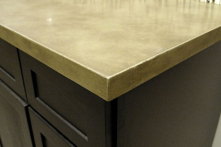 Eased Edge  concrete countertop  Kitchen  Countertops Concrete countertops Kitchen countertops