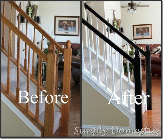 Best 25+ Painted stair railings ideas on Pinterest | Black ...