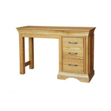 Solid Oak - FRDT1 Lyon Oak Single Pedestal Dressing Table   www.easyfurn.co.uk