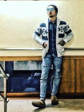 yusuke│Ron Hermanのニットキャップ・ビーニーコーディネート