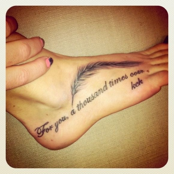 Beautiful, Runners And Quote Tattoos
