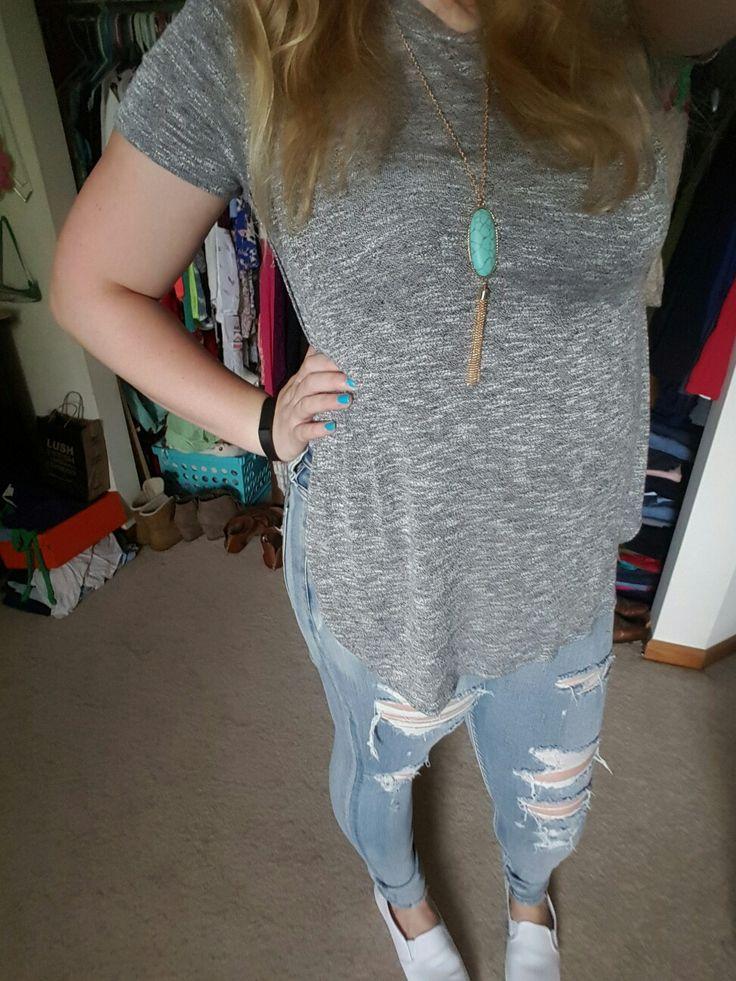 Shirt: Kohls Jeans:AE Necklace: Charming Charlie Shoes:Walmart